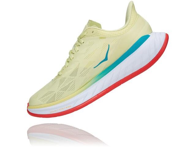 Hoka One One Carbon X 2 Shoes Men, luminary green/hot coral